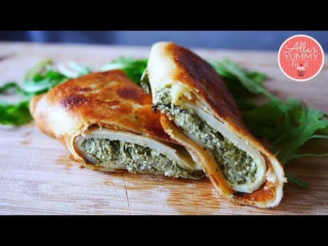 Easy Crepes with Feta Spinach Filling Recipe