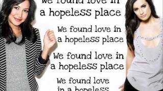 Glee - We found Love  (Lyrics)