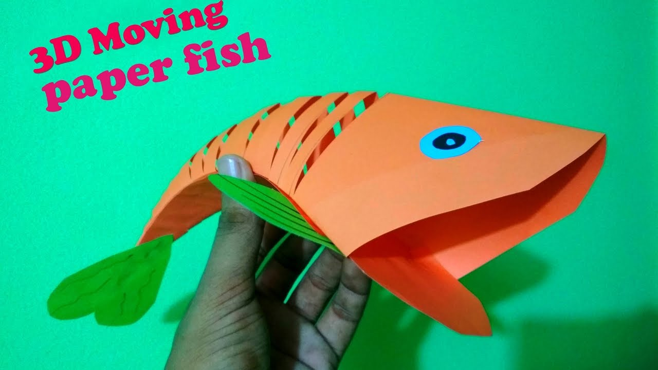 How to make an origami moving paper fish 3d moving fish craft how to make an origami moving paper fish 3d moving fish craft for kids jeuxipadfo Choice Image