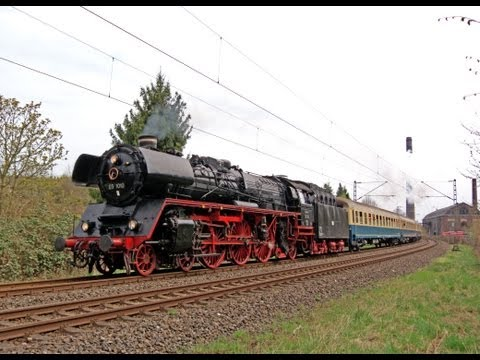 German Pacific Steam Locomotives in Ruhr District April 2013