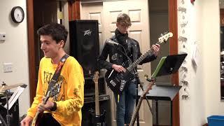 Justin Performing Saturday Night's Allright Main Street Music and Art Studio