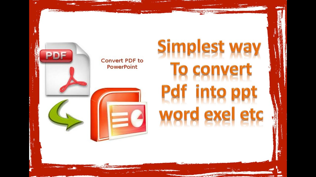 how to convert pdf into ppt , convert pdf to ppt easiest way by faiza waseem