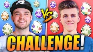 ✨SHINY EGG HATCHING CHALLENGE! 🔥 (Ali-A vs Lachlan)