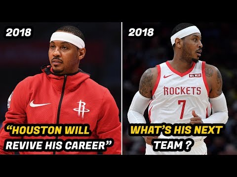 This is Why Carmelo Anthony's NBA Career is Over on the Houston Rockets
