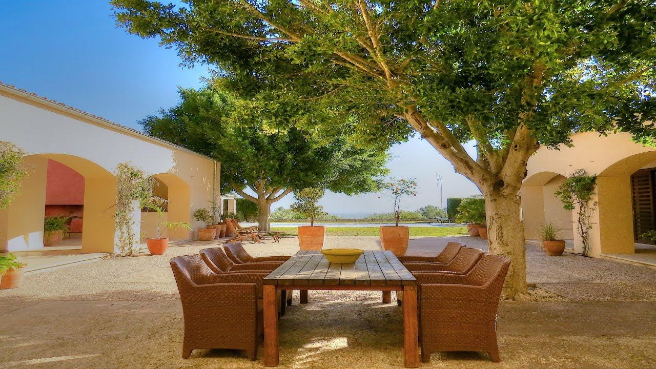 Lujosa casa de campo excepcional con piscina y vistas al mar mallorca inmobiliaria youtube - Casa de campo mallorca ...