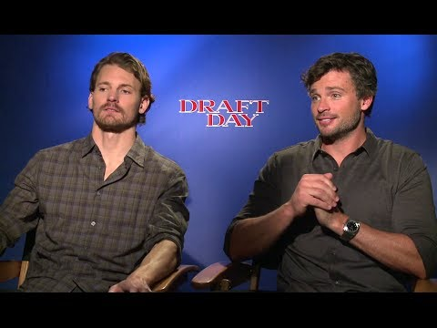 Josh Pence & Tom Welling Interview - Draft Day (2014) JoBlo.com HD