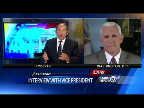 VP Mike Pence speaks to KMBC about Spicer resignation, Obamacare