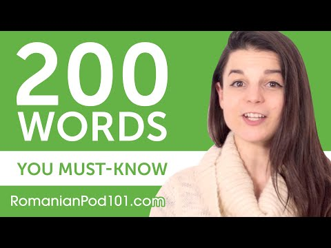 200 Words Every Romanian Beginner Must-Know