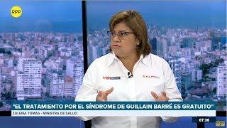 """Ministra Zulema Tomás: """"El tratamiento por el síndrome de Guillain-Barré es gratuito"""""""