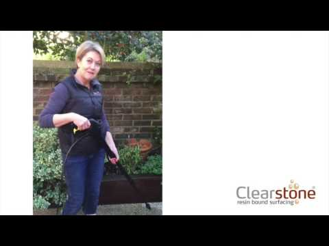 Cleaning a Clearstone resin bound patio