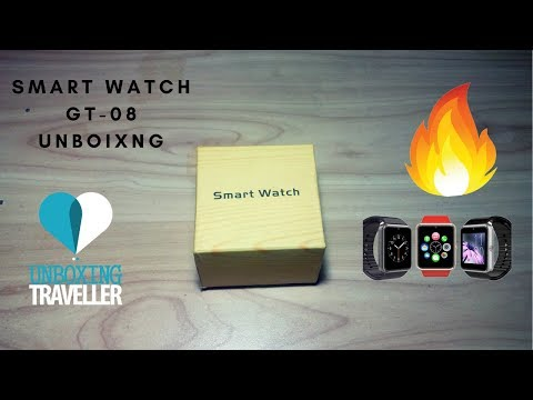 Smart Watch GT-08 Unboxing - GSM And Bluetooth Sim & Memory Card Support