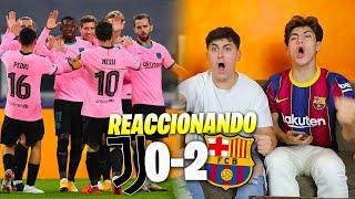 HINCHAS DEL BARÇA REACCIONAN AL JUVENTUS 0 - 2 BARÇA *el mejor partido de la temporada*
