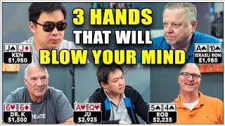 THESE POKER HANDS WILL BLOW YOUR MIND ♠ Live at the Bike!
