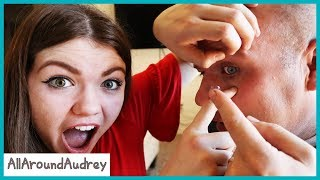 FACE YOUR FEARS - Dad Vs. Contact Lenses / AllAroundAudrey