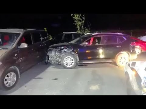 Drunken driver smashes into 20 vehicles in E China's Zhejiang Province