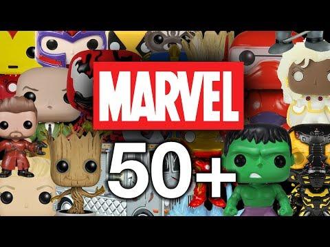 All of my Marvel Funko Pops!!
