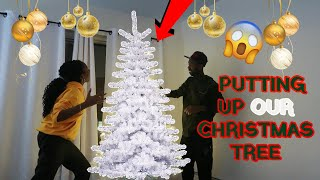 VLOG | PUTTING UP THE CHRISTMAS TREE !! | OUR FIRST TREE