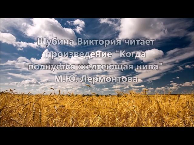 Изображение предпросмотра прочтения – ВикторияШубина читает произведение «Когда волнуется желтеющая нива…» М.Ю.Лермонтова