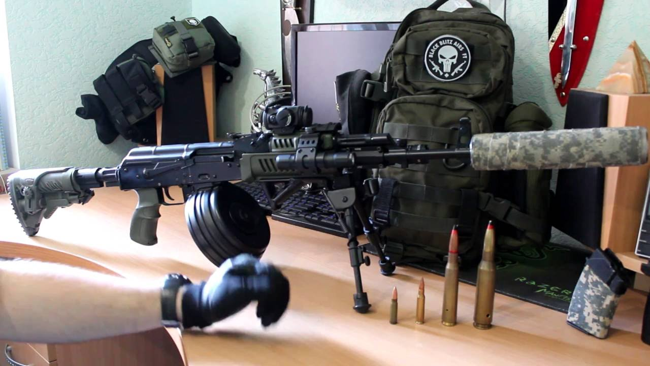 Складной приклад для АК взамен штатного нескладного, UAS AKP Fab .
