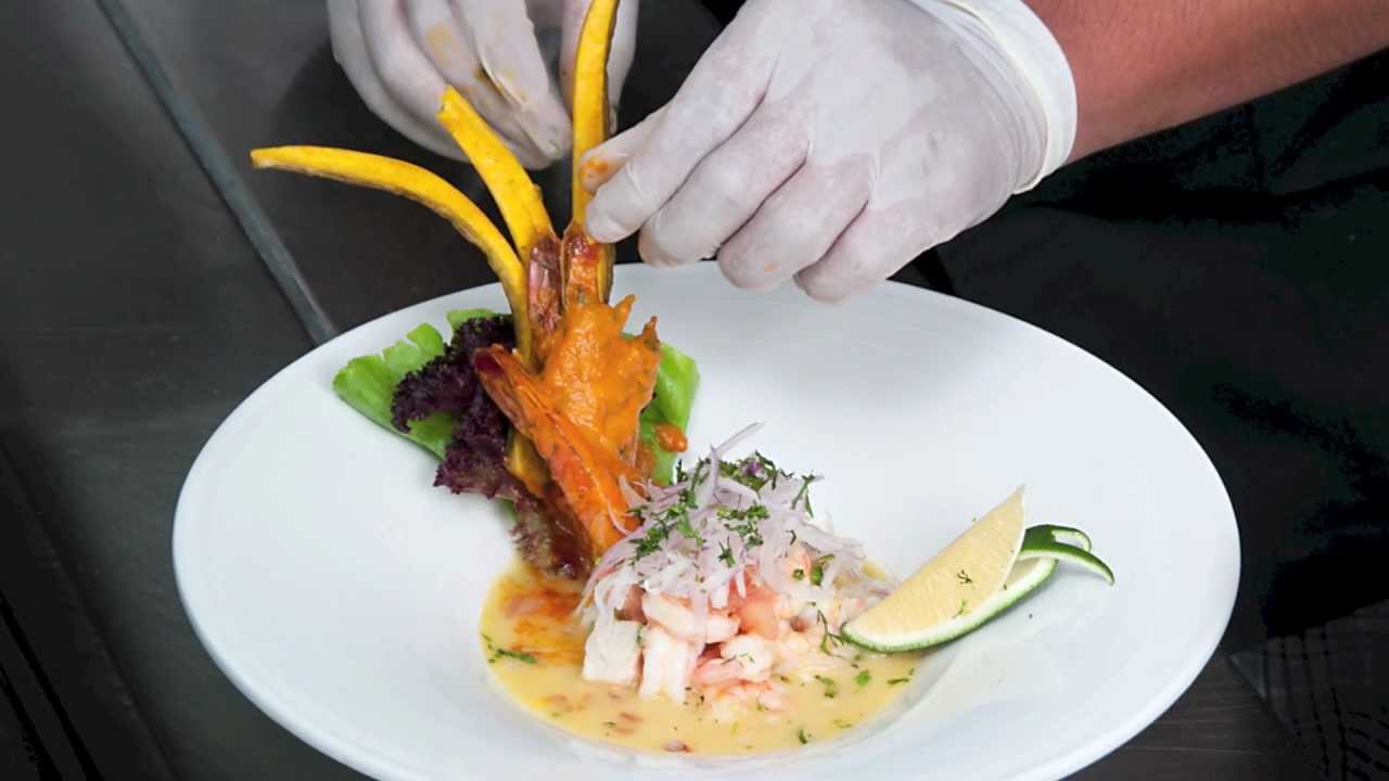 CEVICHE MIXTO CON ENCOCADO DE LANGOSTINO  YouTube