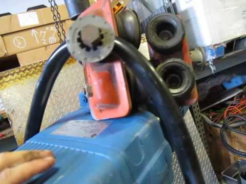 DEMAG DKUN 2-250 K V1 F4 1/2 ton ELECTRIC CHAIN HOIST 2 SPEED 13 FT