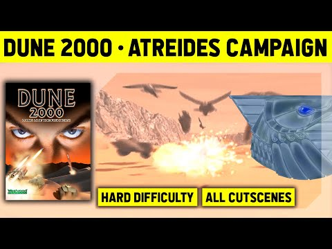 Dune 2000 - Atreides Campaign On Hard - No Commentary Walkthrough With Cutscenes - 1080p