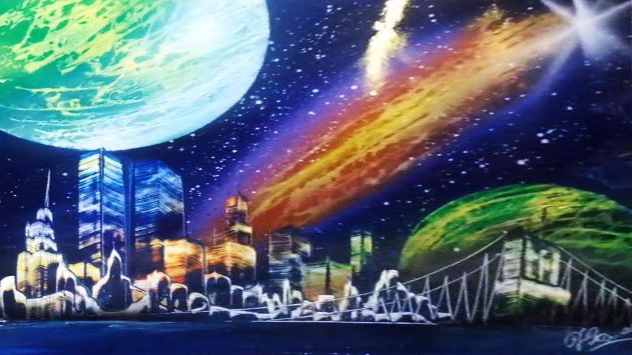 Spray Paint Art New York - Street Art 42 - YouTube
