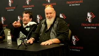 Texas Chainsaw massacre's John Dugan and R A Milhailoff Q & A Frightmare At The Falls