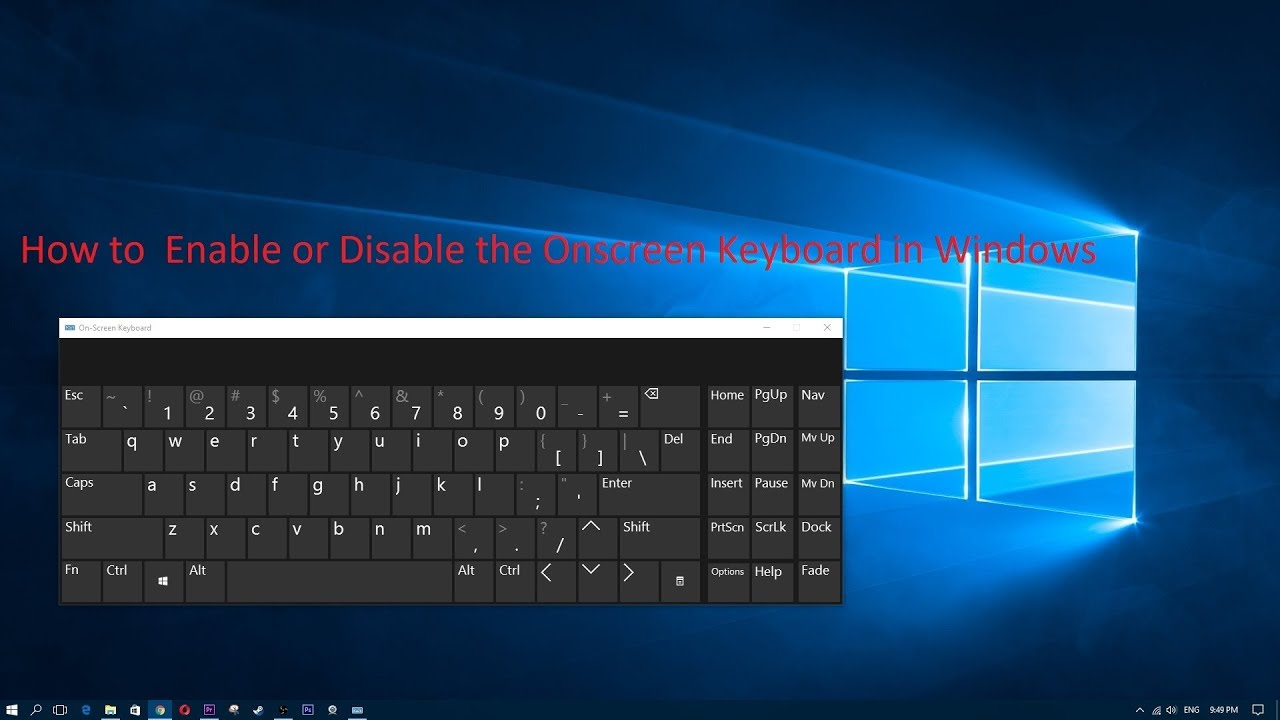 how to disable popup keyboard windows 10