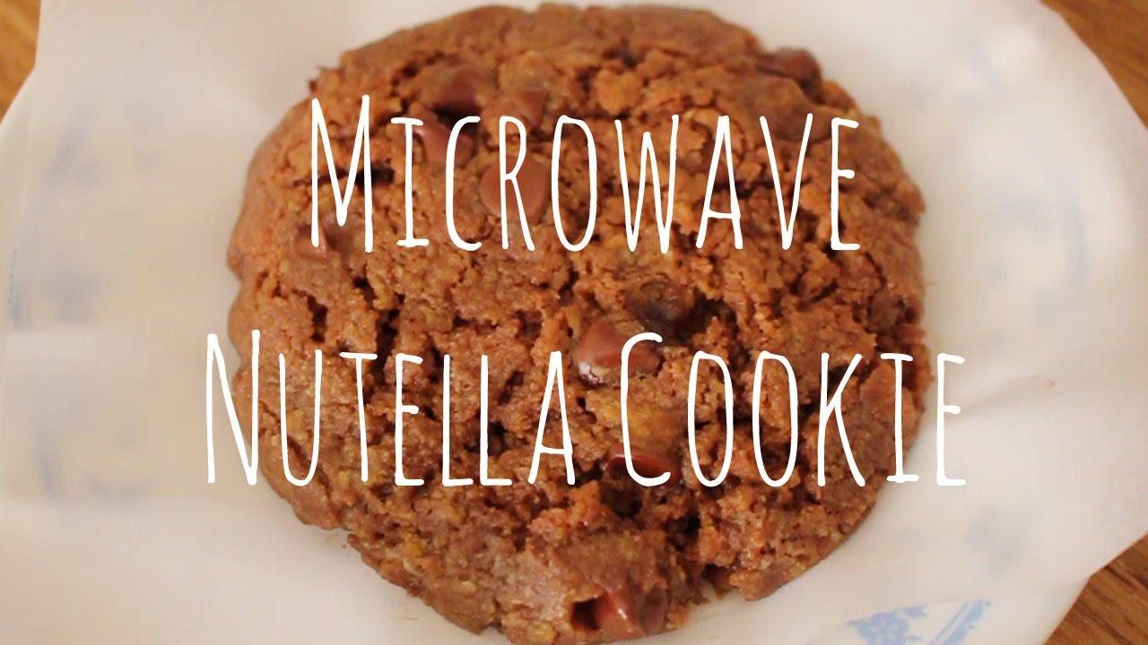 3 Minute Microwave Nutella Cookie Sweetco0kiepie