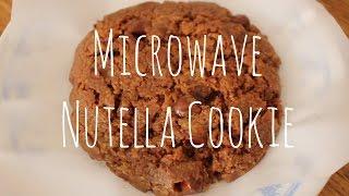 3-minute Microwave Nutella Cookie