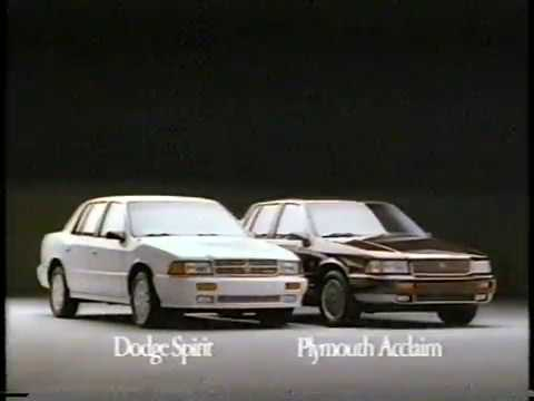 Dodge Spirit / Plymouth Acclaim - Commercial (1991)