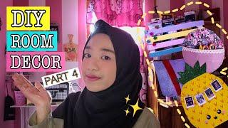 DIY ROOM DECOR INDONESIA 2018! Part 4 ✂️🎨