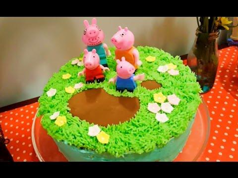 How To Make A Peppa Pig Cake Youtube Easy