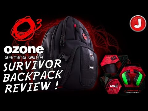 Ozone Gaming Survivor BackPack Review NEW 2016