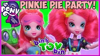 Gambar cover My Little Pony Equestria Girls Pinkie Pie Pajama Party with Gummy! Doll Review by Bin's Toy Bin