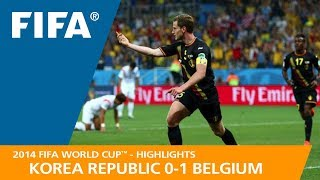KOREA REPUBLIC v BELGIUM (0:1) - 2014 FIFA World Cup™