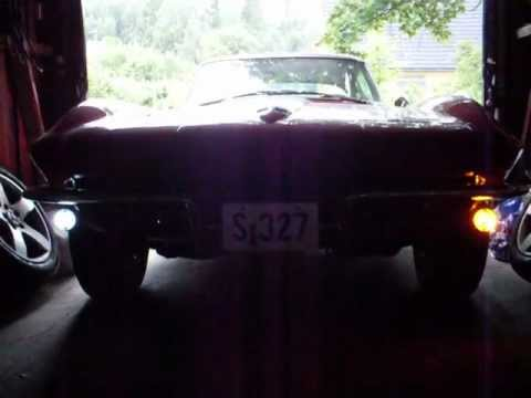Daytime driving lights and turn signal for Corvette C2 and C3