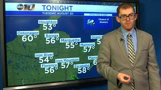 Upper Peninsula Weather Forecast - August 20, 2019