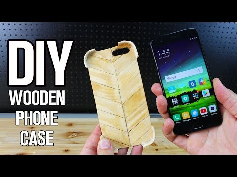 DIY Wood phone case from popsicles sticks