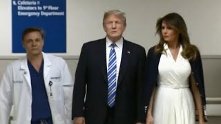 Trump visits Florida hospital after shooting