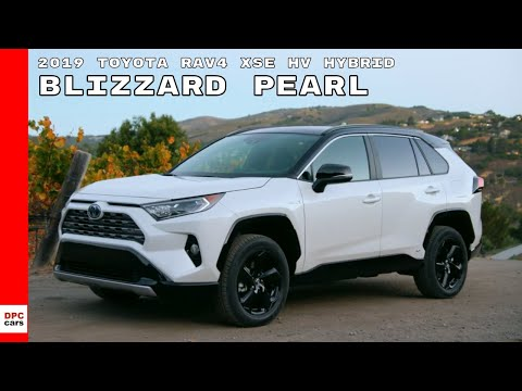 2019 Toyota RAV4 XSE HV Hybrid Blizzard Pearl