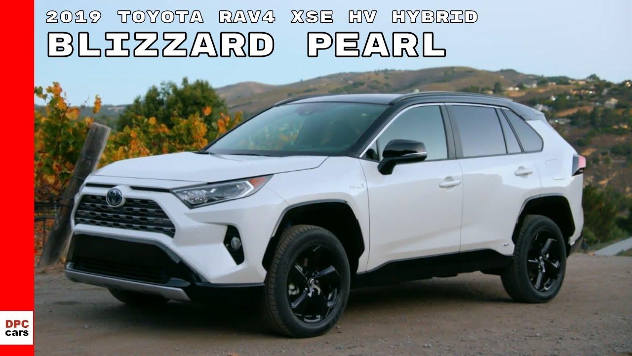 2019 Toyota Rav4 Xse Hv Hybrid Blizzard Pearl Youtube