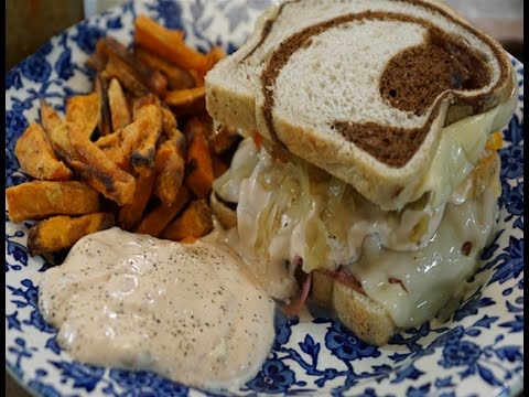 SOUTHERN REUBEN SANDWICHES & BAKED SWEET POTATO FRIES
