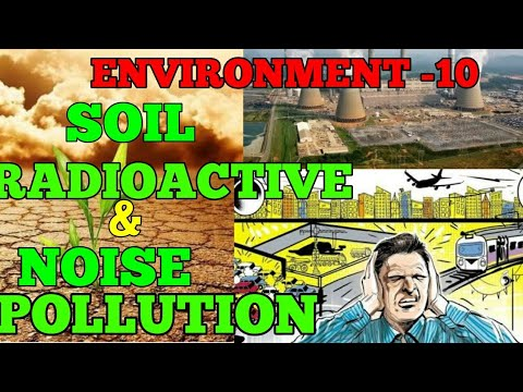 Environment: Soil pollution, Noise pollution, Radioactive pollution & E-Waste