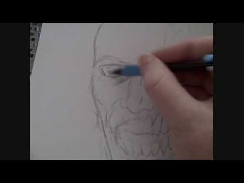 Zombie Face Line Drawing : How to draw a zombie head part one video youtube