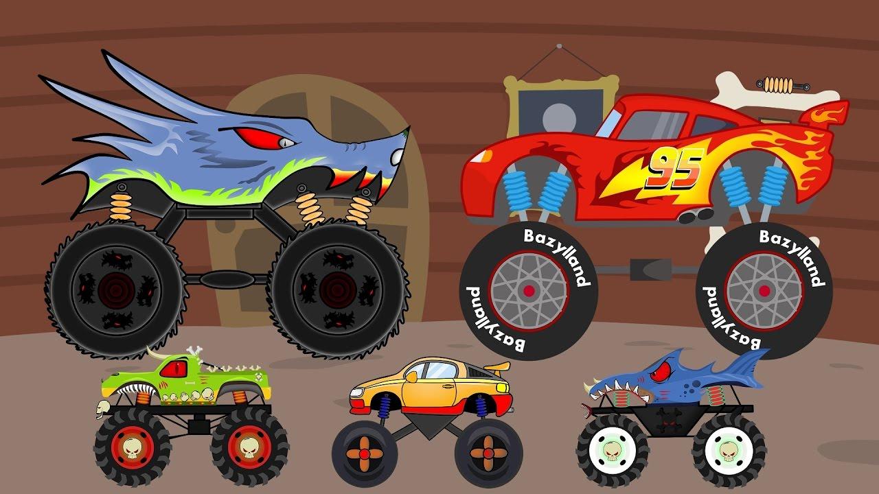 Monster Trucks   A Collection Of Fairy Tales For Kids   Zbiór Bajek Dla Dzieci - Monster Trucki