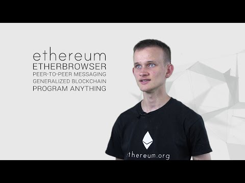 Vitalik Buterin explains Ethereum