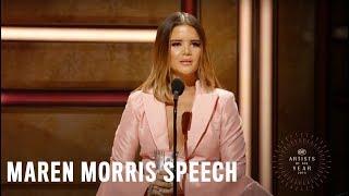 Maren Morris | 2018 CMT Artists of the Year Acceptance Speech