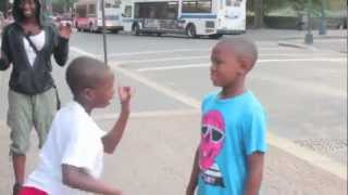 young boys  Dance Battle hiphop street  In Harlem NYC